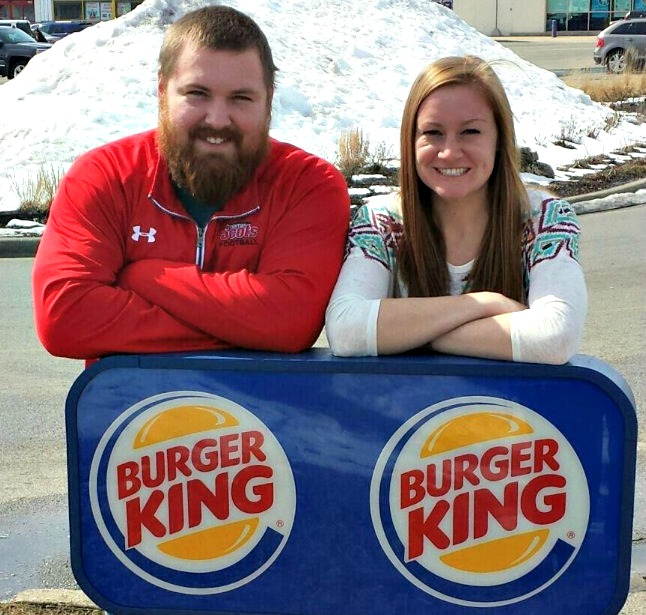 A guy named Burger and a girl named King just got their wedding paid for by Burger King