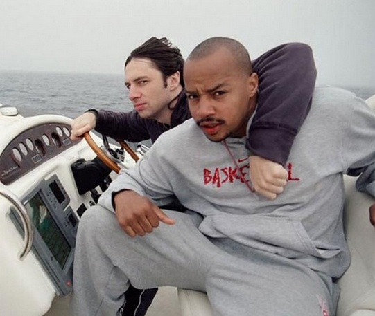If you're gay, getting married in Indiana, and desperately want pizza, Zach Braff and Donald Faison have your back