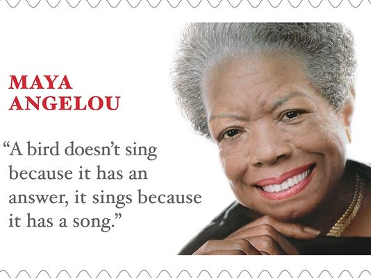There's a weeeeee little mistake on the Maya Angelou stamp