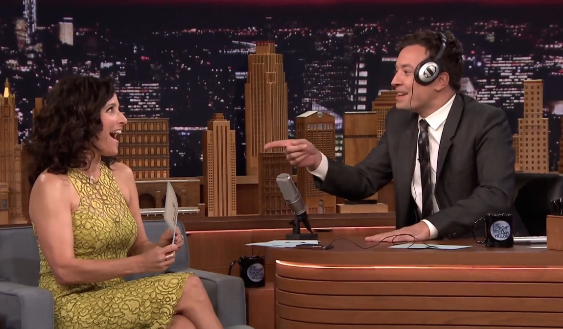Julia Louis-Dreyfus and Jimmy Fallon had a whisper competition. We're still cry-laughing