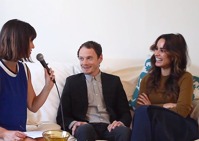 Inconveniently Interviewing Anton Yelchin and Bérénice Marlohe!