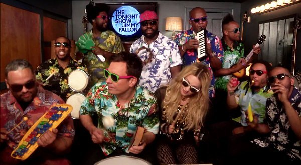 Our very fave Jimmy Fallon segment, classroom instruments, this time with Madonna!