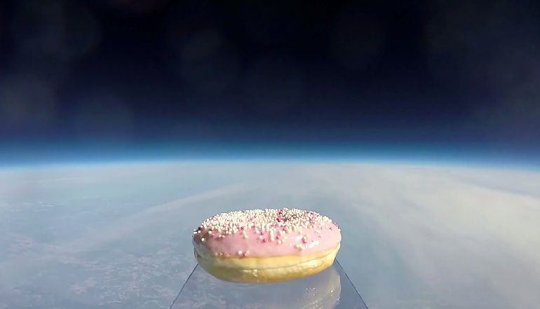 Astronauts just sent the first donut to space, because of course they did