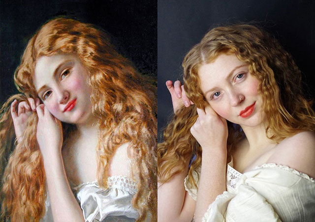 Meet the artist who turned classic portraits into gorgeous selfies