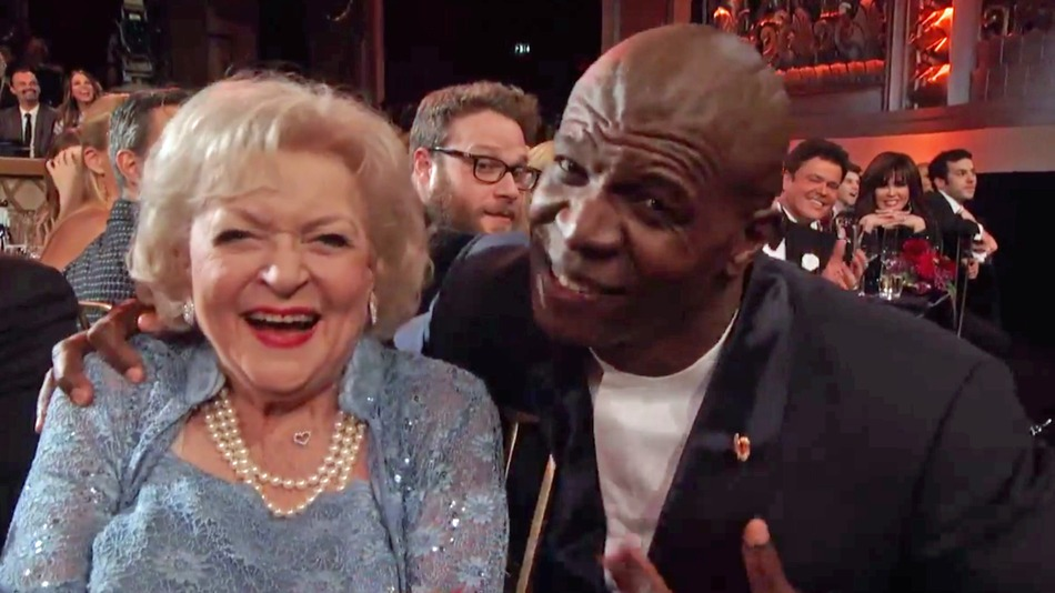 Terry Crews lip-syncs the 'Golden Girls' theme song to Betty White—and it's magical