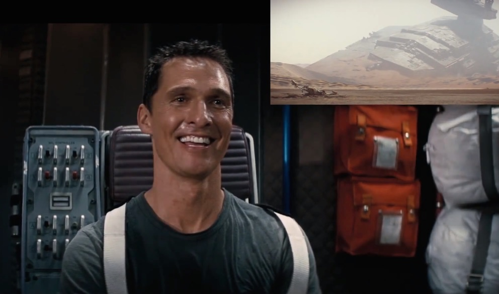Matthew McConaughey reacting to the new 'Star Wars' trailer is priceless