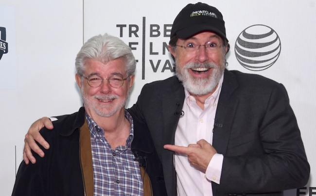 The best things George Lucas said in his interview with Stephen Colbert