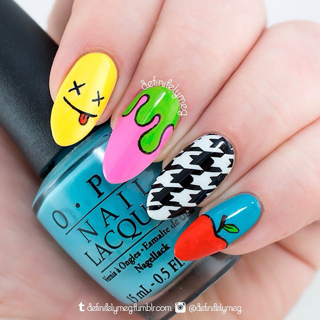 Nails of the Day: Acid punk