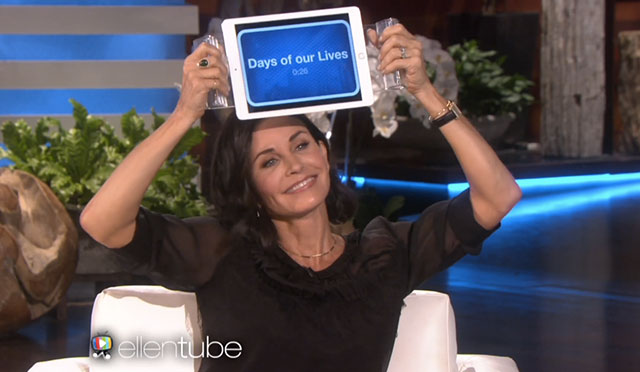 Courteney Cox just did 'Friends' trivia with Ellen and it was amazing