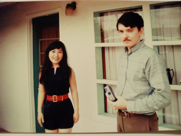 Mom and dad in their twenties.