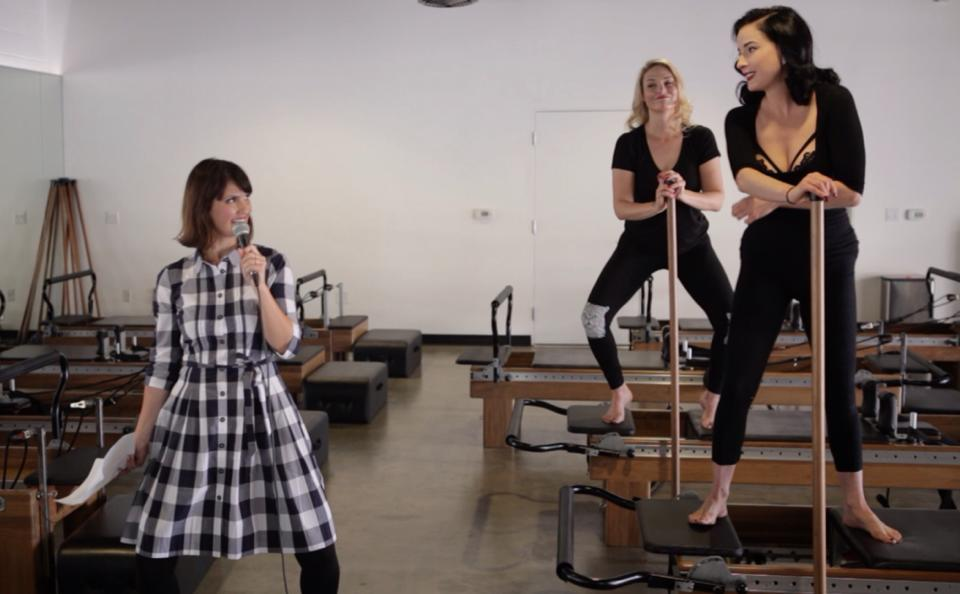 Inconveniently Interviewing Dita Von Teese While Doing Pilates