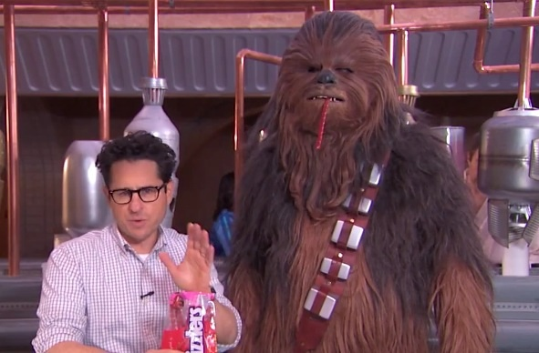 J.J. Abrams and Chewbacca take the Twizzler challenge!