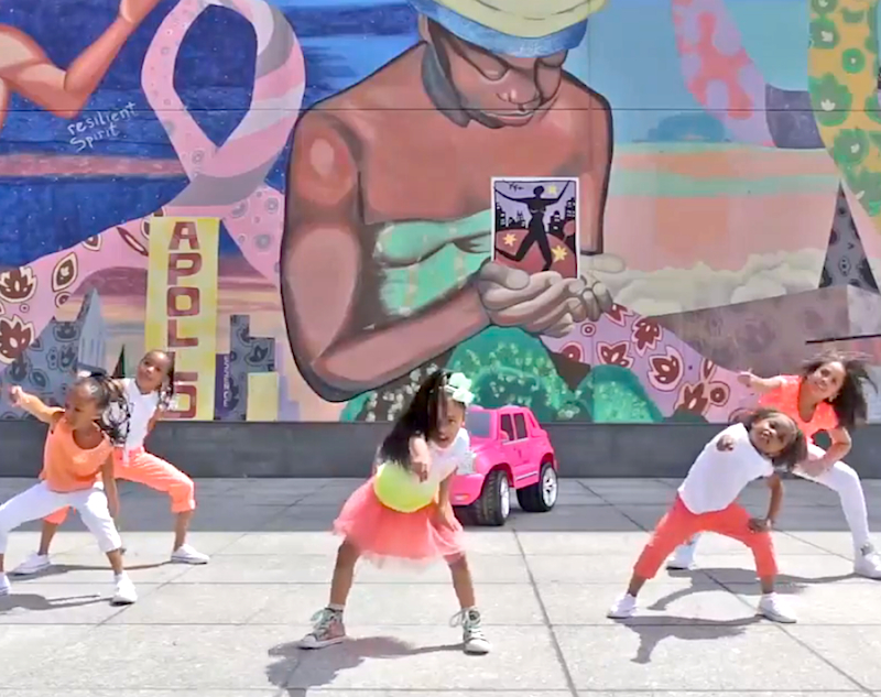 Watch 4-year-old Heaven King and her dance crew break it down with this party anthem