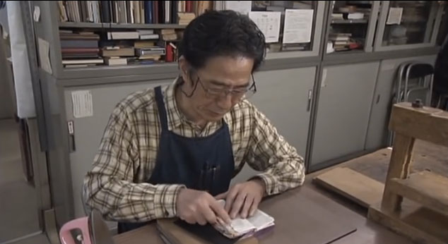 Watching a book repairman do his job is ridiculously satisfying