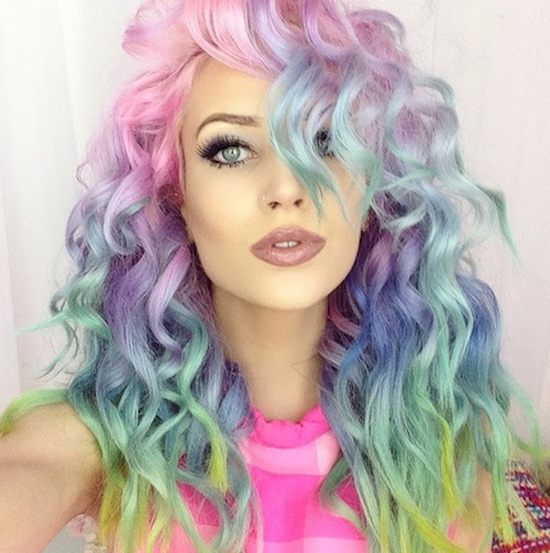 Let's delve into the rainbow hair trend, shall we?