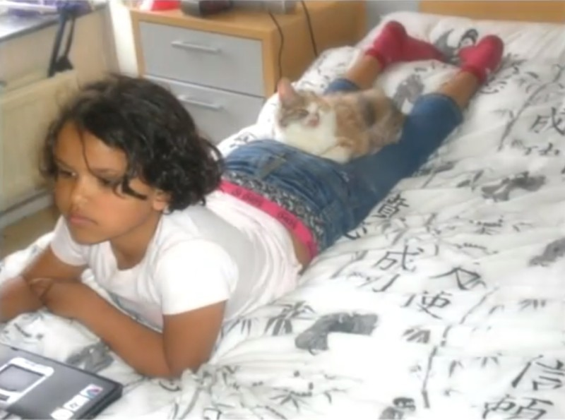 This 7-year-old girl rescued a badly injured kitten, and turned his life around