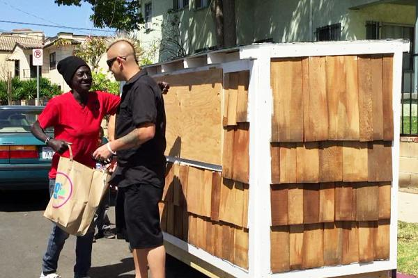 Let's help this awesome guy build tiny houses for homeless people