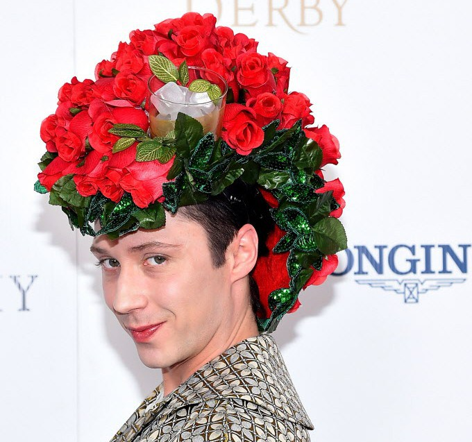 Johnny Weir totally won the Kentucky Derby hat game