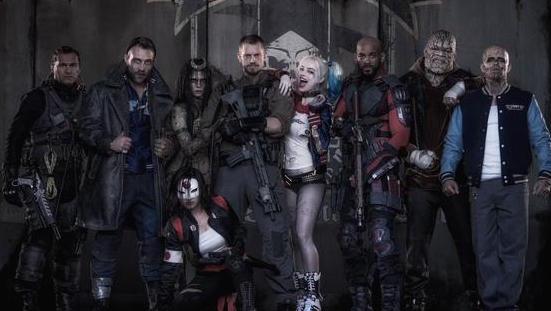 Let's bask in this photo of the Suicide Squad in all their costumed glory