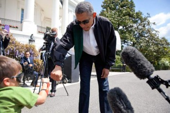 This awesome kid just fist-bumped the president. NBD.