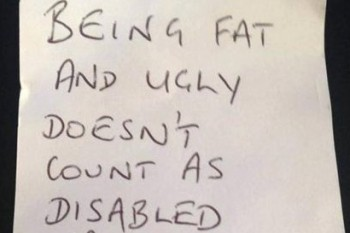 "Woman responds to cruel note by raising awareness about ""invisible disabilities"""