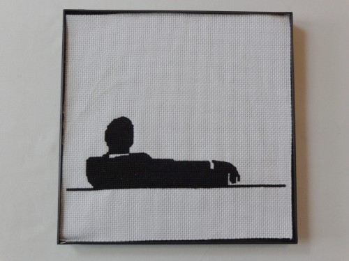 Say goodbye to 'Mad Men' with this framed cross-stitch