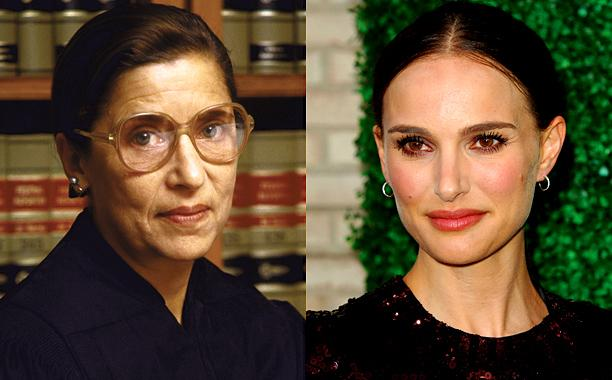 Oh happy day! Natalie Portman is going to play Ruth Bader Ginsburg!