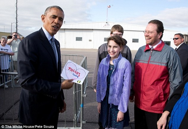 The adorable and amazing way and 11-year-old girl convinced President Obama to visit her homestate