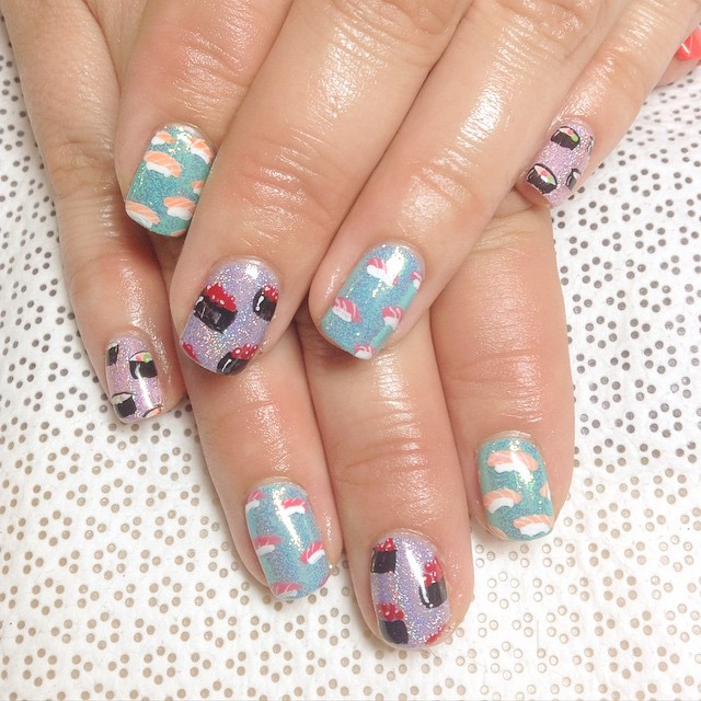 Nails of the Day: Sushi life