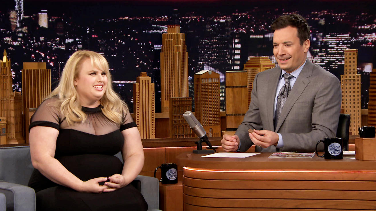 Rebel Wilson dares Jimmy Fallon to face his food fears