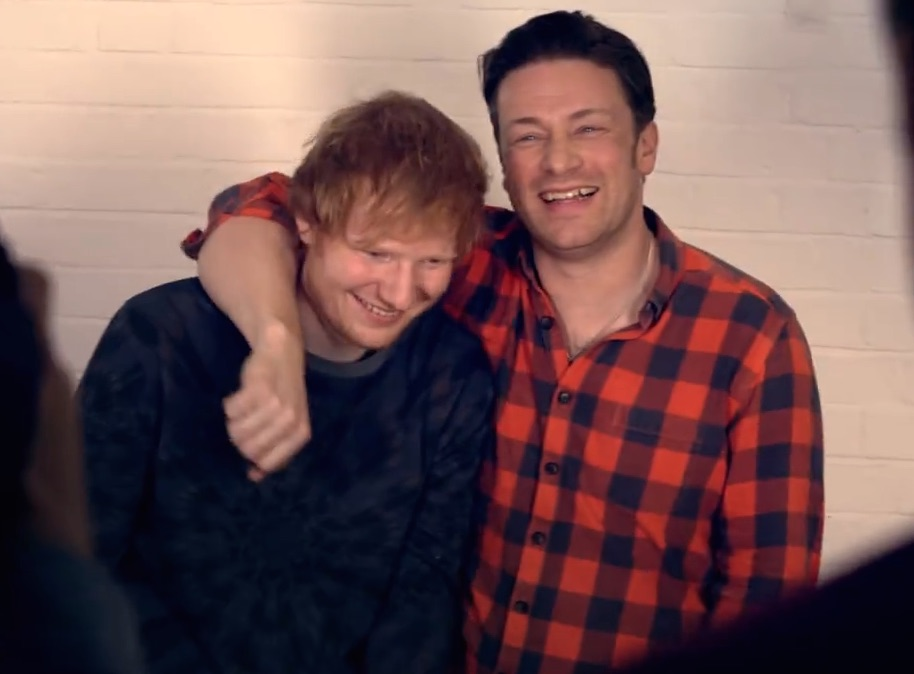 Jaimie Oliver's rap with Ed Sheeran = adorable