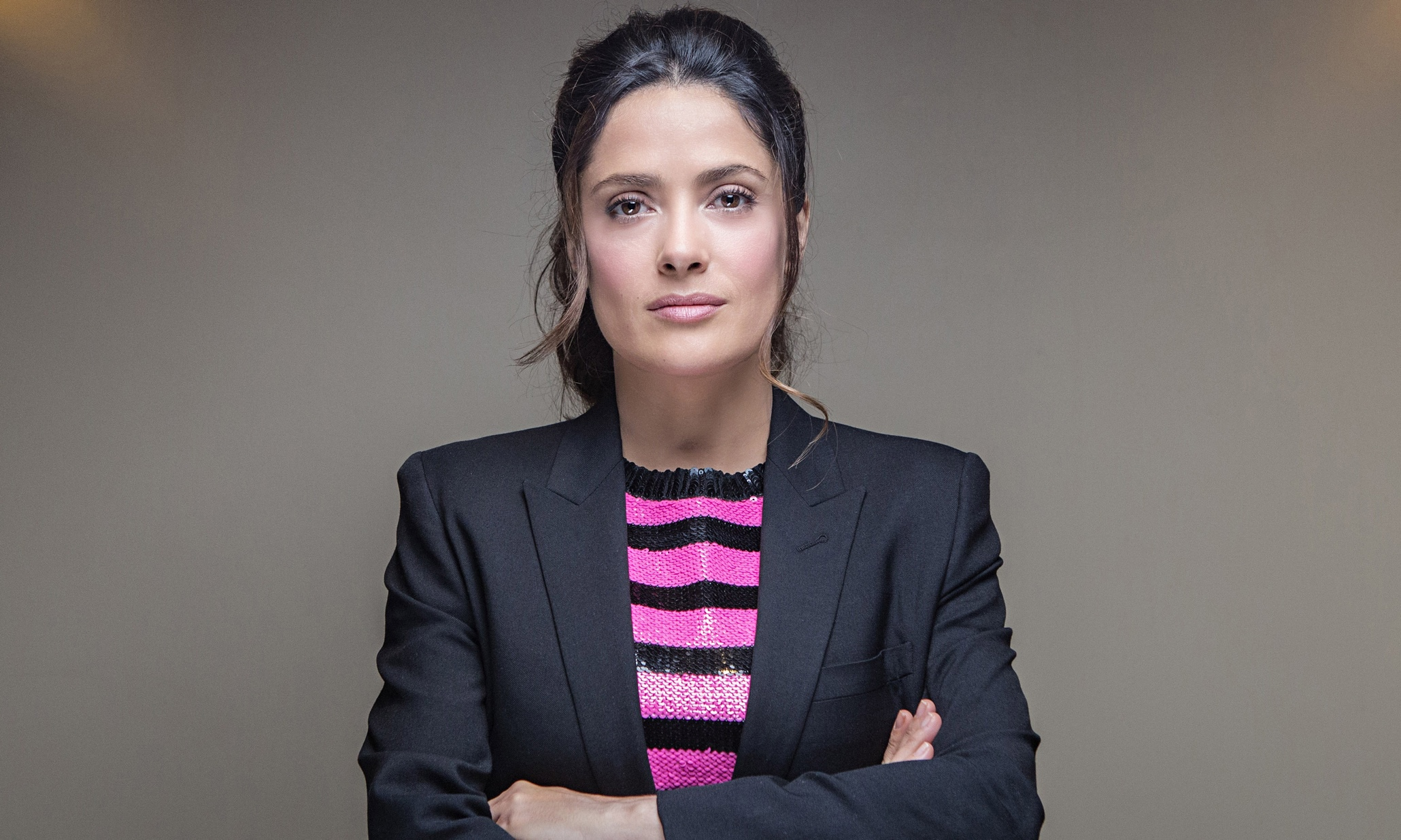 Salma Hayek drops serious wisdom about what it will take for women to change Hollywood