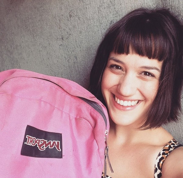 This woman is dating her backpack, and it's getting kind of serious