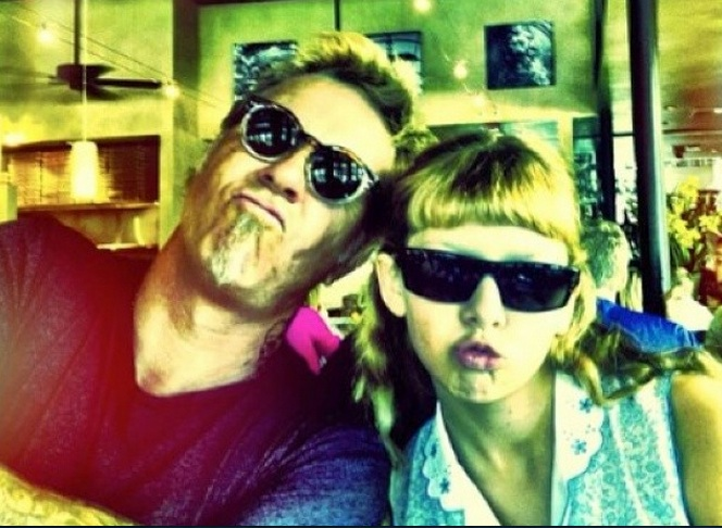 James Hetfield's 16-year-old daughter is just the coolest