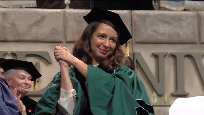Maya Rudolph whipped out her Beyoncé impression (and some major wisdom) for grads