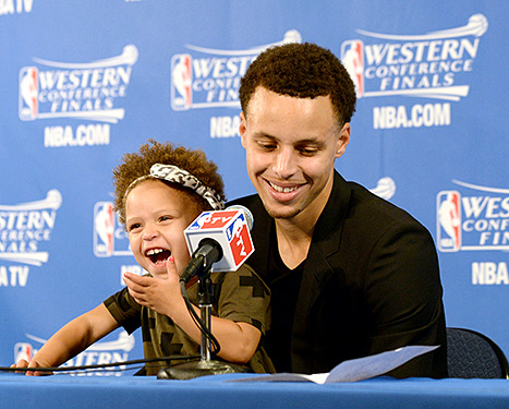 Motion to have Stephen Curry's daughter do all NBA press conferences from now on