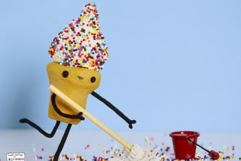 Sprinkles make everything fun, even cleaning…