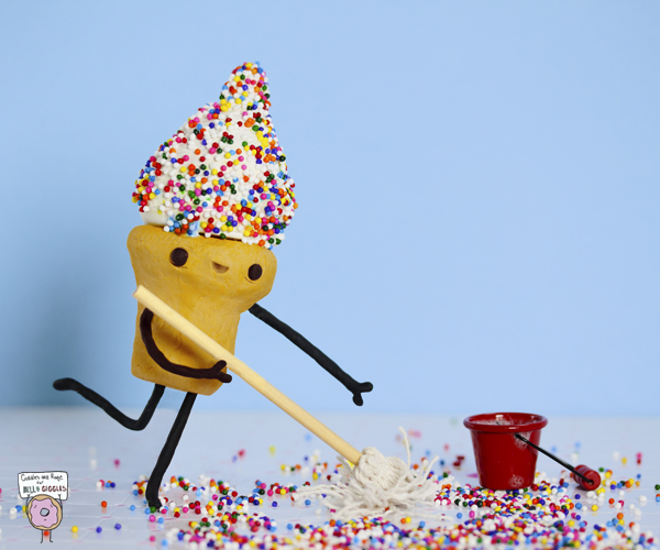 Sprinkles make everything fun, even cleaning...