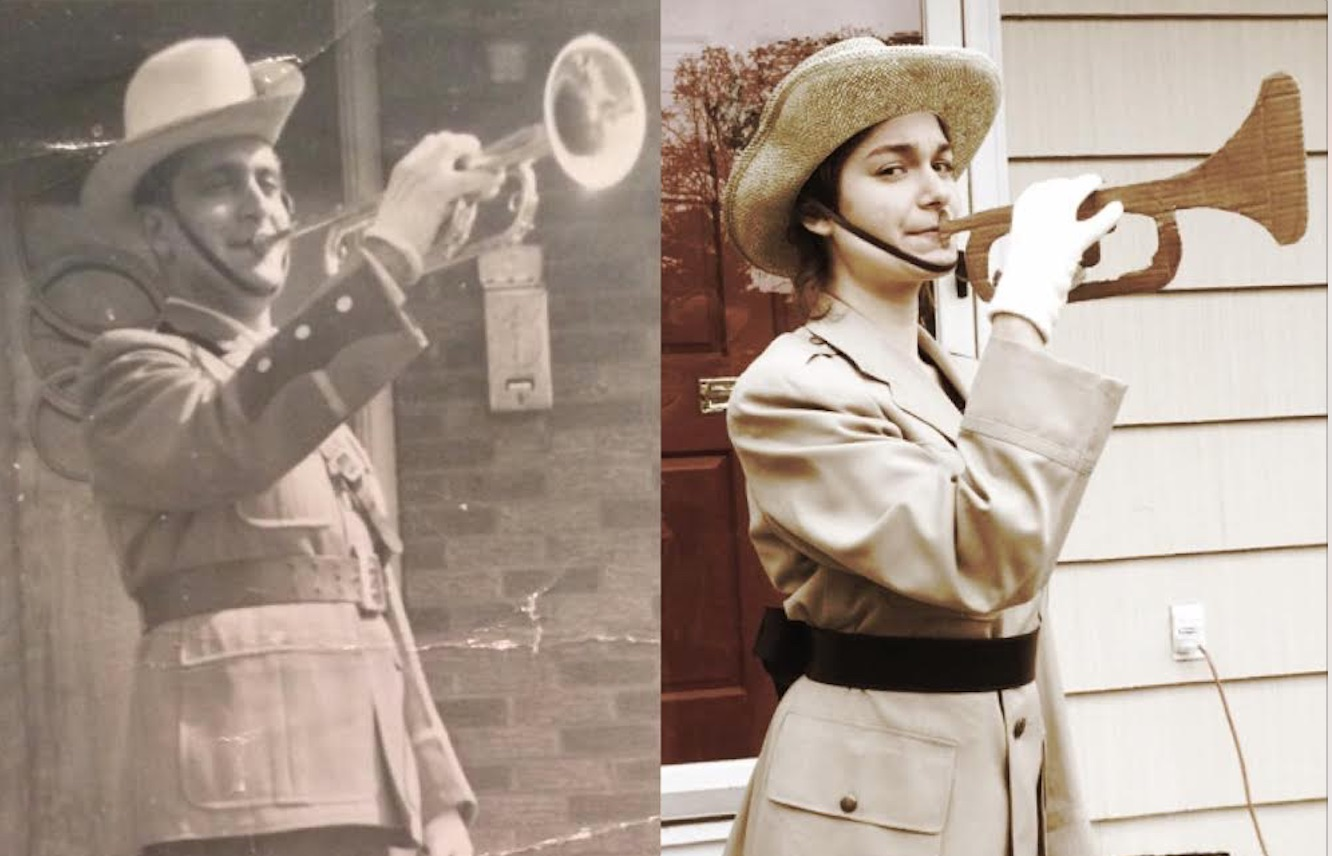These teens recreated photos of loved ones who served our country. Awesome!