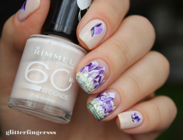 Nails of the Day: Raw amethyst crystals