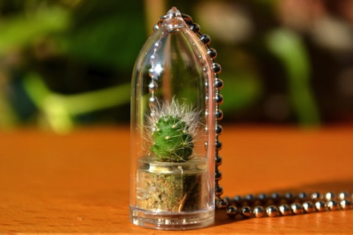 Keep nature close with this tiny plant necklace for Gemsprouts tiny plant jewelry