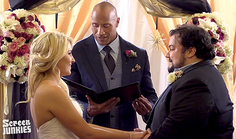 The Rock just officiated a surprise wedding for his number one fan