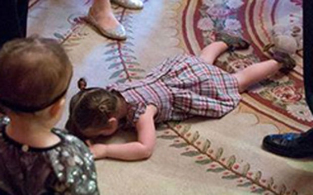 President Obama just handled this toddler's temper tantrum like a champ