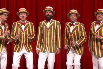 Jimmy Fallon + Sting= best barbershop quartet ever