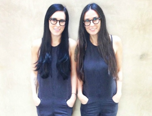 This pic of Rumer Willis and Demi Moore #twinning wins on so many levels