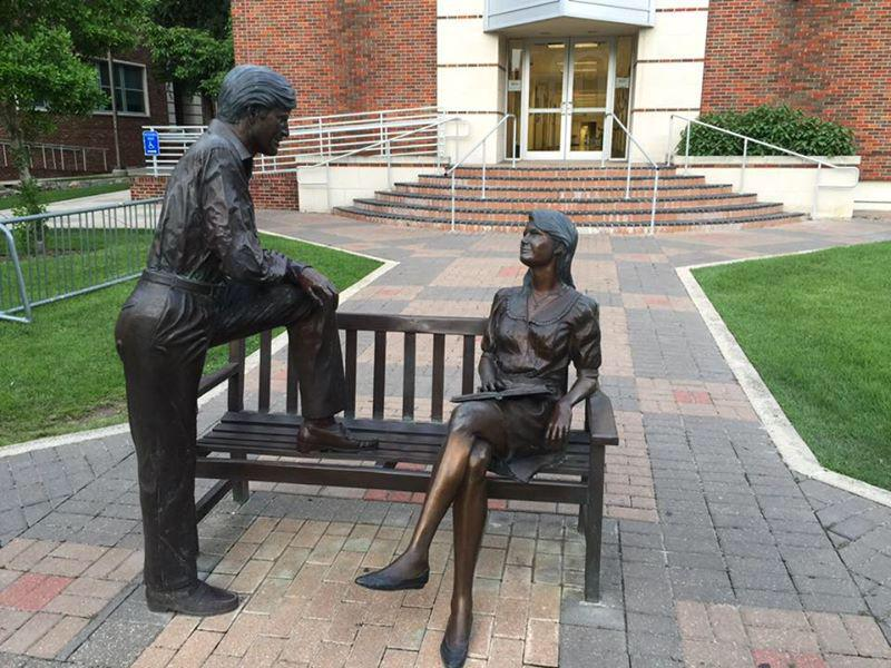 Don't worry, this campus statue will mansplain everything for you
