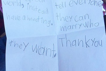 5-year-old's letter to Obama about marriage equality makes our hearts swell