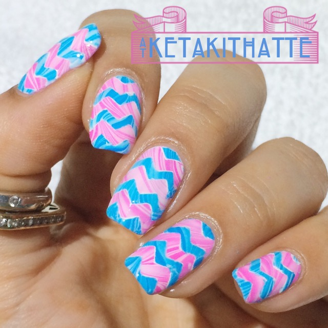 Nails of the Day: Cotton candy chevrons