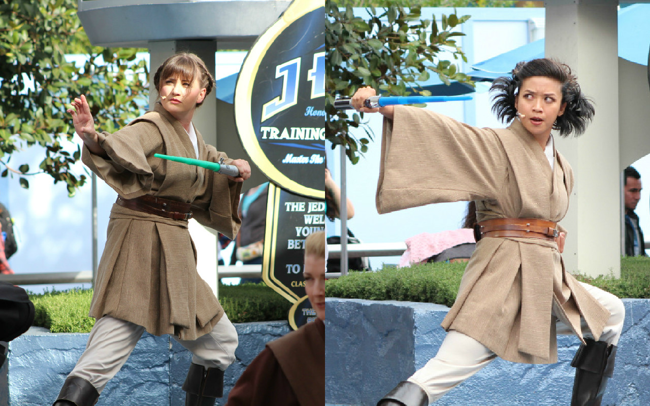 The first female Jedi Masters are now at Disneyland. We bow down.