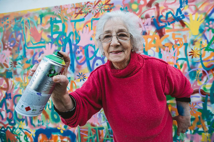 Senior citizen graffiti artists are doing what they can to banish ageism